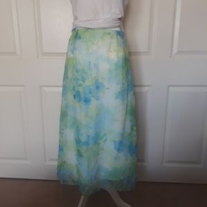 Dressbarn Floral Maxi Skirt